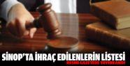Sinop'ta Kamudan İhraç Edilenlerin Listesi