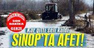 Sinop'ta tarım arazileri sular altında...