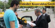 Taksiler Kontrolden Geçti