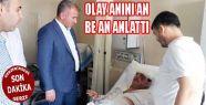 TOKMAK, KAZAZEDE MEHMET BURMA'YI HASTANEDE ZİYARET ETTİ
