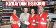 Türk Kızılayı'ndan Gerzeli Esnaflarımıza Teşekkür Belgesi