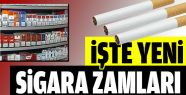 Yeni Sigara Zamları Belli Oldu