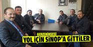 Yol İçin Sinop'a Gittiler