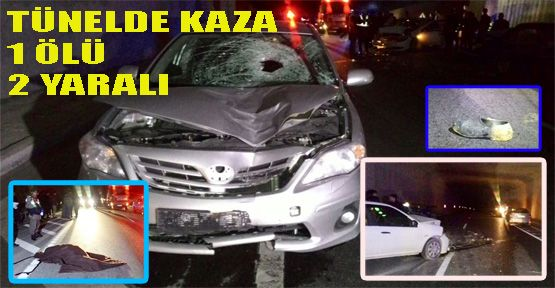 Trafik Kazası 1 Ölü, 2 Yaralı
