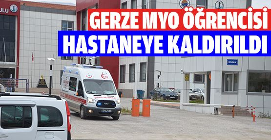Üniversite Öğrencisi Hastaneye Kaldırıldı