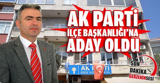 Vedat Özdemir Ak Parti Gerze İlçe Başkanlığı'na Aday