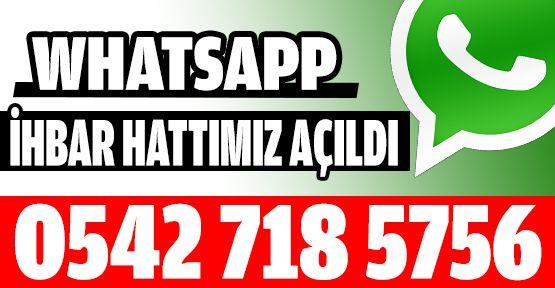 HABER İHBAR HATTIMIZ: 0542 718 5756