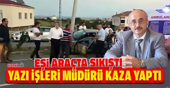 Yazı İşleri Müdürü Cevdet Çakır Kaza Geçirdi